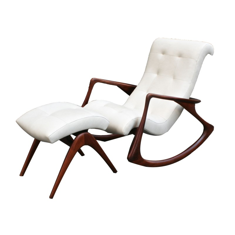 vladimir kagan rocking chair tall director with side table and ottoman circa 1950s todd merrill sold