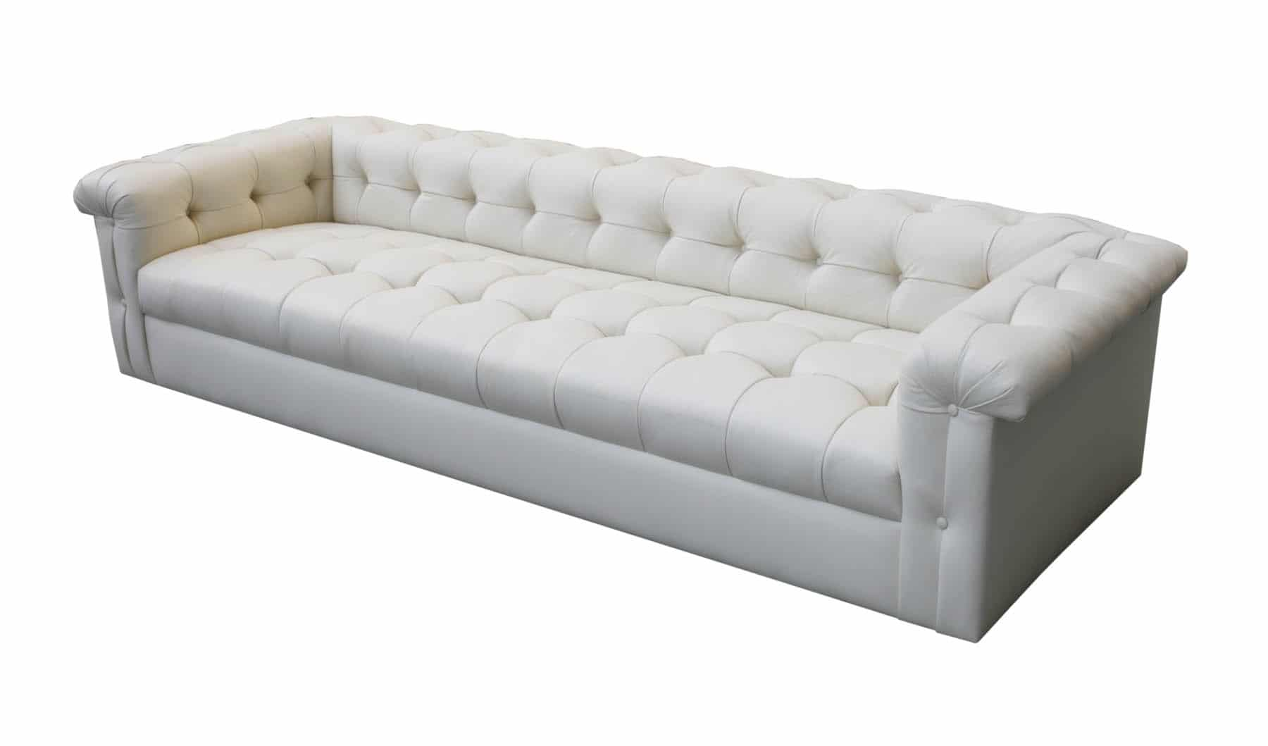 leather sectional sofa tufted shelter arm edward wormley for dunbar eight foot