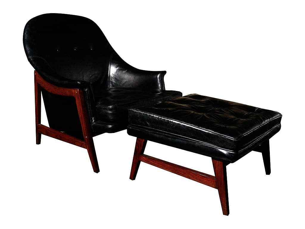 Leather Chair And Ottoman Edward Wormley Dunbar Leather Chair And Ottoman Todd Merrill