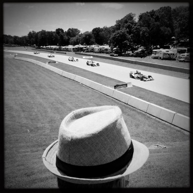 Hat man near Sargento Bridge during 2016 Kohler Grand Prix. (Photo by Todd Mizener/tmizener@gmail.com)