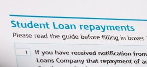Student loan repayments on a tax form