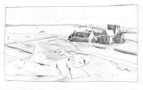 ©TW sketch, european homestead