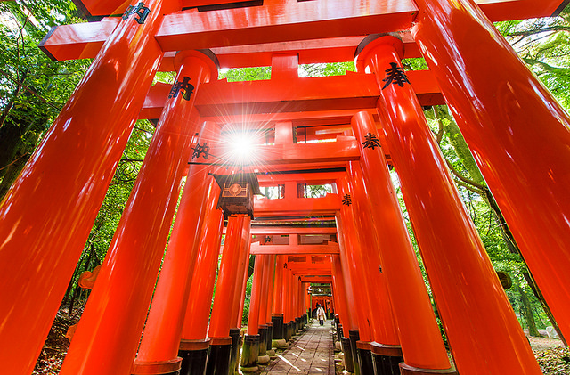 Fushimi Inari Torii Gate - Kyoto, Japan (flickr:tombricker)