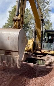 Todd's Excavating Excavator