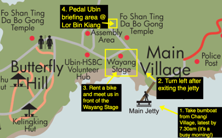 Pedal Ubin meet point map