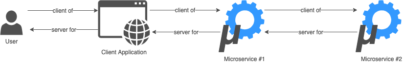 Microservices Application Clients and Servers