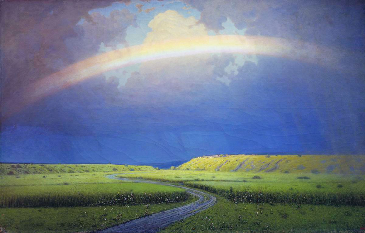 Arkhip Kuindzhi - Rainbow, oil on canvas (1900-1905)