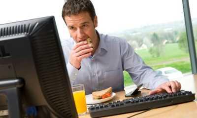 Comer en exceso en el trabajo Nutrición y Dietética
