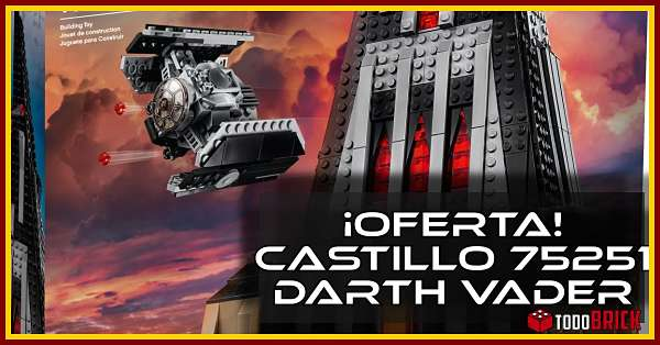 Oferta castillo de darth vader lego 75251