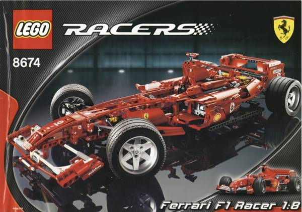 Ferrari de LEGO Technic 8674 F1 Racer