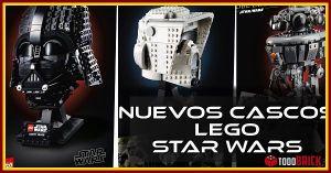 Nuevos cascos LEGO Star Wars mayo 2021 casco darth vader de lego