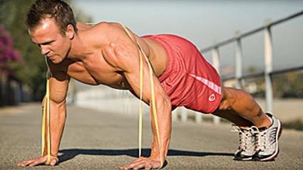 flexiones con bandas elasticas