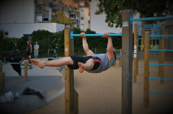 straddle Front lever