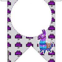 Fortnite Banderines de Cumpleanos para Imprimir Gratis