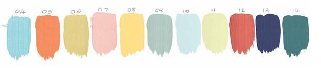 evolução das cores por ano