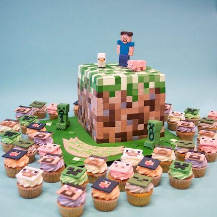 bolo festa minecraft