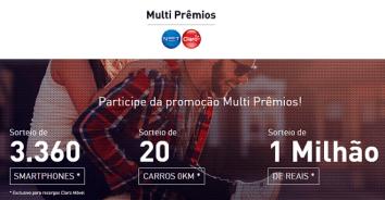 Promoção Claro NET Multiprêmios