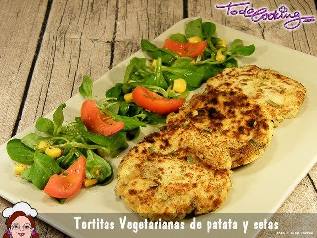 Tortitas vegetarianas de patatas y setas