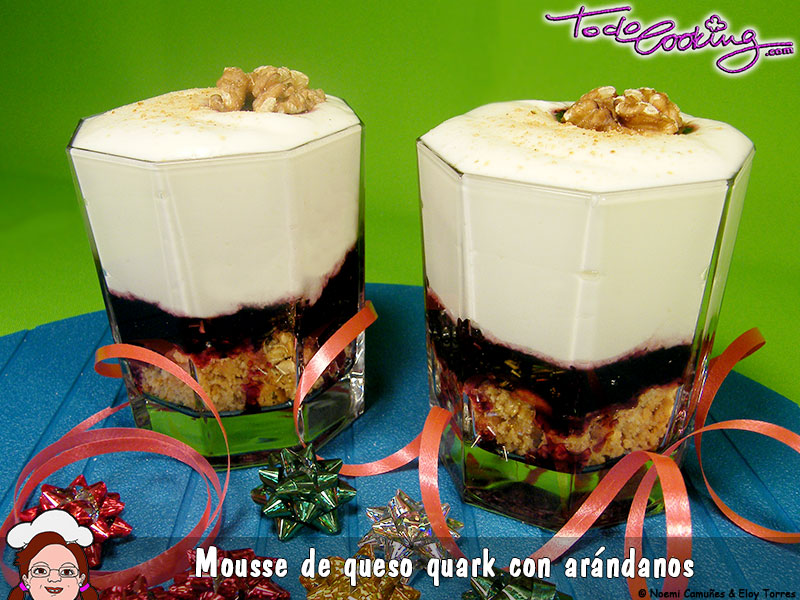 Mousse Queso Quark Arandanos