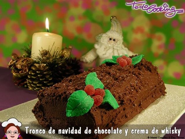 Tronco Navidad Chocolate Whisky - especial Navidad