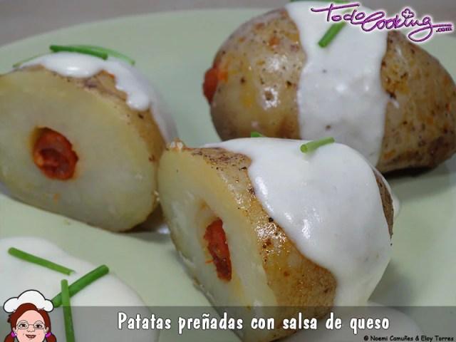 Patatas preñadas con chistorra