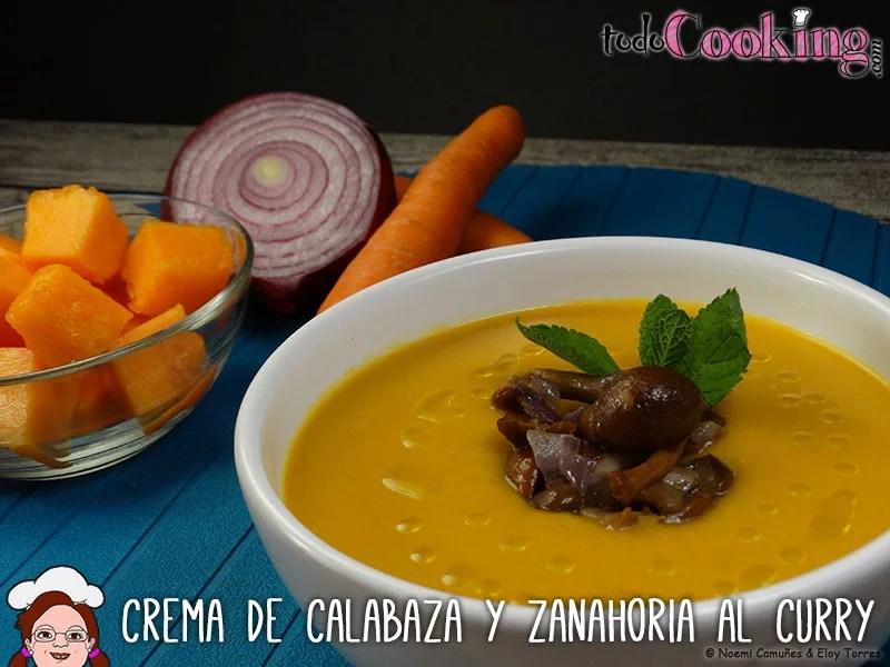 Crema de calabaza y zanahoria al curry verduras y hortalizas