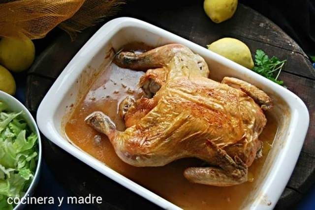 pollo-asado-cerveza-limon recetas de pollo y pavo