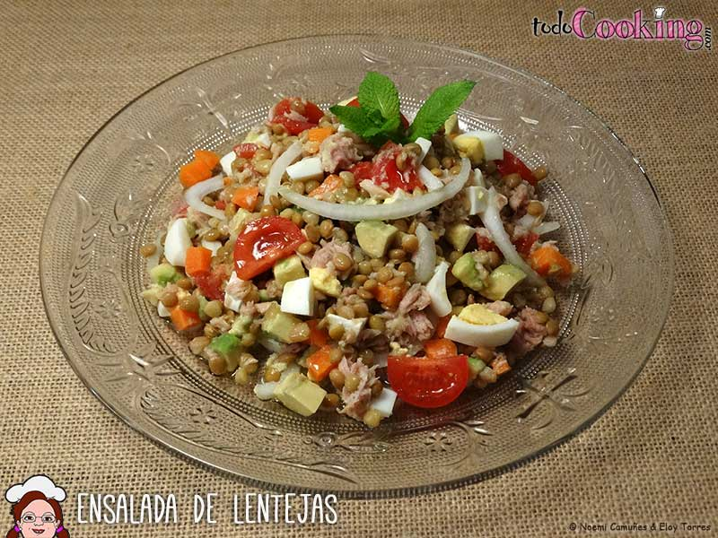 Ensalada de lentejas recetas con legumbres