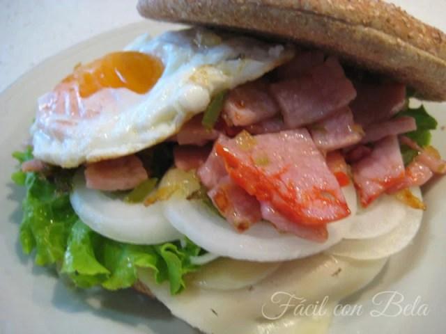 ##Sandwich-Lomo-100%-Integral sándwiches y bocadillos