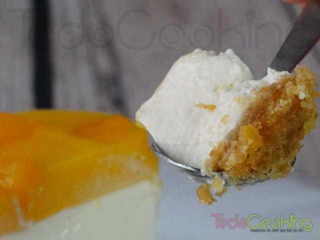 Cheesecake de mango - tarta de queso mango
