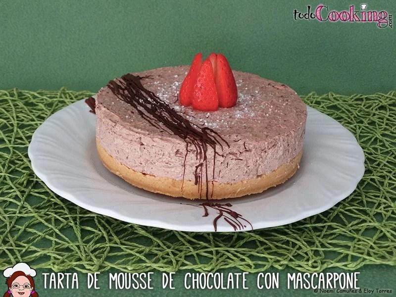 Tarta de mousse de chocolate con mascarpone delicias dulces sin lactosa