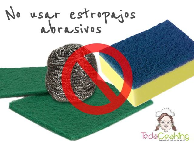 No usar estropajos abrasivos