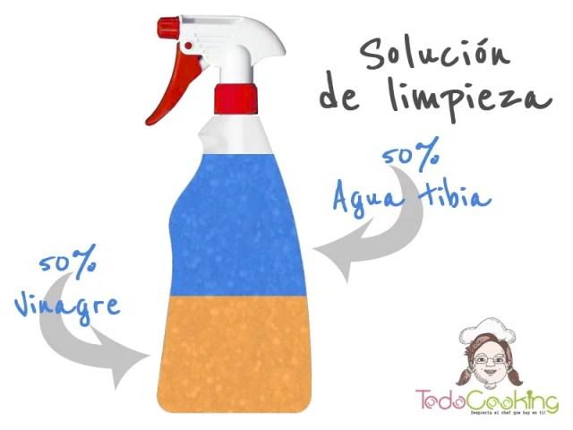 Solución de limpieza