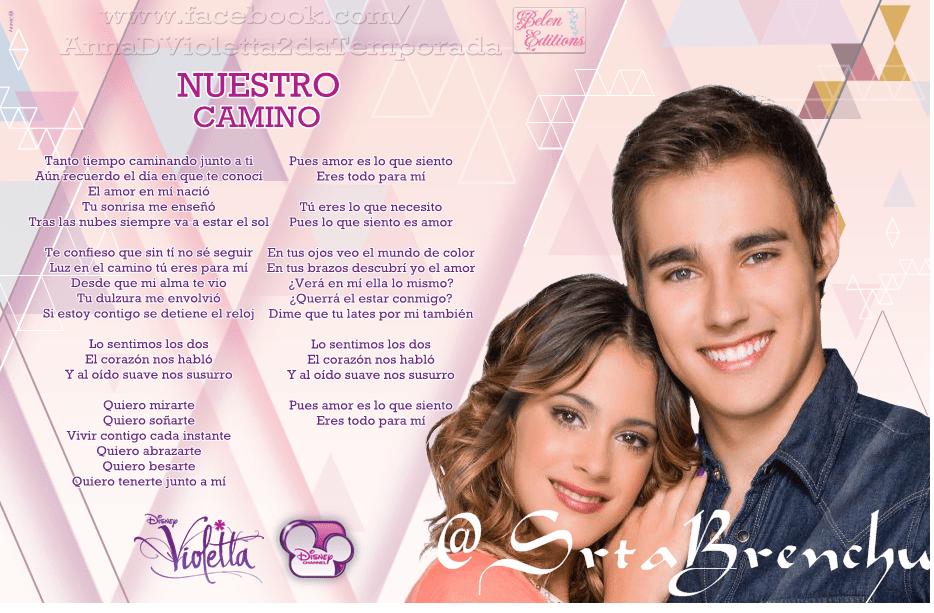Letra de las canciones Podemos y Nuestro camino  Todo de Color Violetta