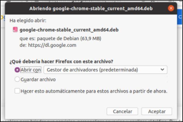 descargar Chrome para Linux