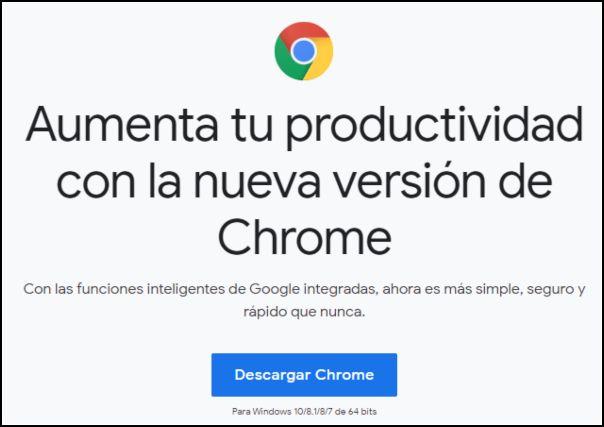 descargar Chrome para Windows 10