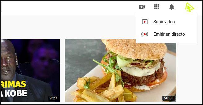 subir vídeo a YouTube