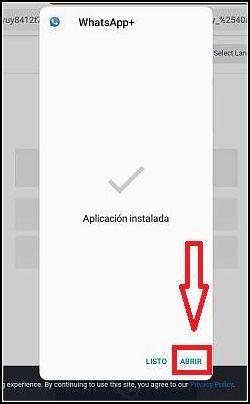 aplicación instalada WhatsApp Plus