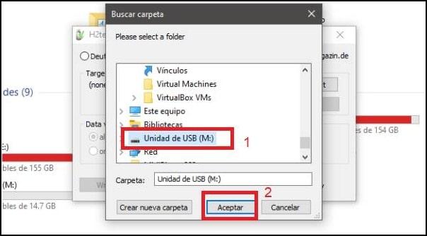 seleccionar unidad micro SD