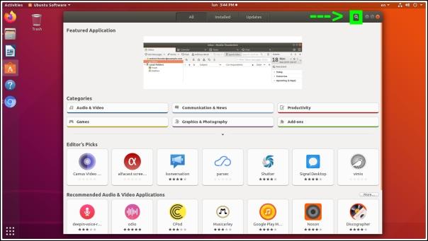 icono lupa ubuntu