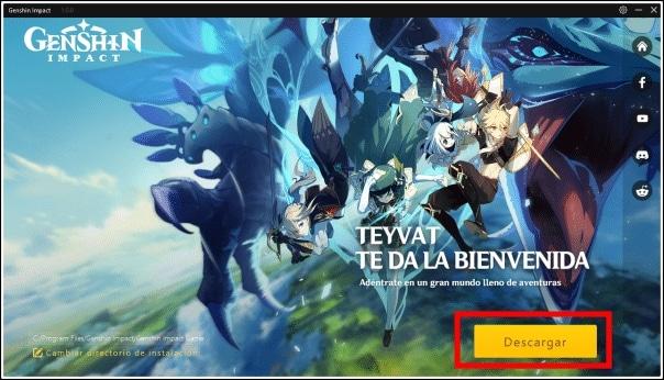 descargar Genshin Impact PC