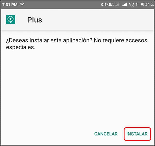 Instalación de Plus Messenger