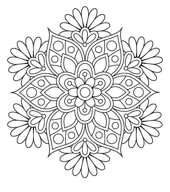 Mandalas en imágenes originales para colorear e imprimir