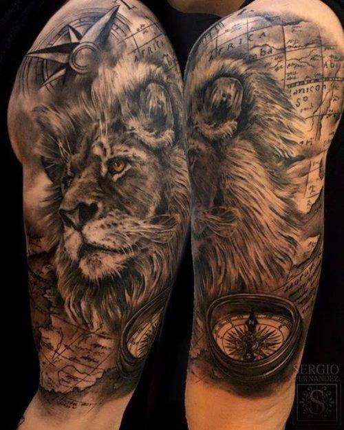 Realista Tattoo De Leon 3d