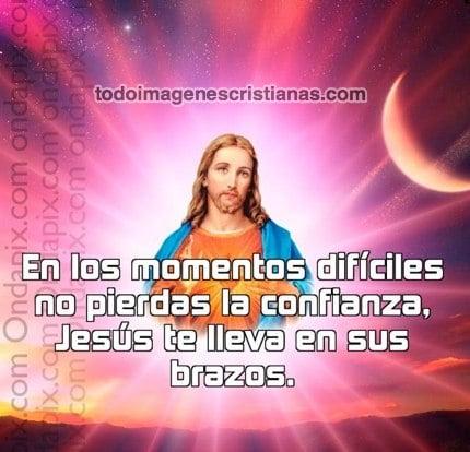 Imagenes Cristianas jesús te lleva en sus brazos