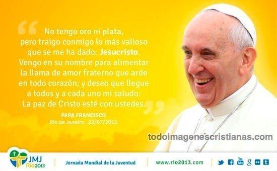 imágenes del papa francisco con frases