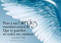 Imágenes cristianas con frases de salmos sobre los ángeles