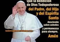 Imágenes con frase de bendición del Papa Francisco