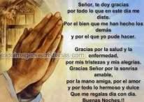 Imágenes cristianas de agradecimiento y buenas noches