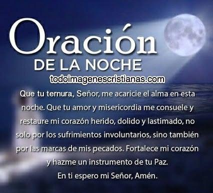 imagenes cristianas oracion de la noche
